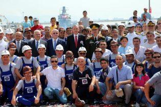 Milli Askeri Korvetler Cumhurbaşkanı Nezaretinde Pendik'te Denize İndirildi