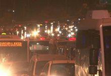 Pendikli Minibüsçüler Darbe Girişimini 15 Temmuz Şehitler Köprüsü'nde Protesto Etti