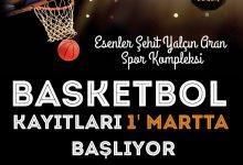 Esenler Şehit Yalçın Aran Spor Kompleksi Basketbol Okulu Kayıtları 01 Mart'ta başlıyor.