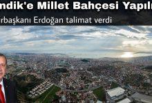 Cumhurbaşkanı Erdoğan'ın Talimatıyla Harekete Geçildi: Pendik'e Millet Bahçesi  Yapılıyor
