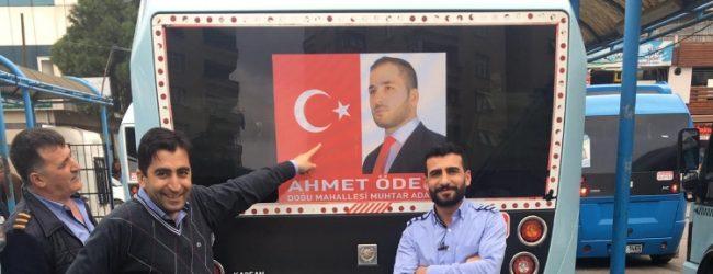 Minibüsçülerden Doğu Mahallesi Muhtar Adayı Ahmet Öden'e Destek