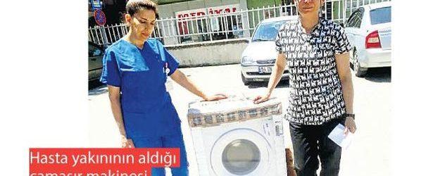 Doğumhaneye Çamaşır Makinesi Aldı Ceza Almaktan Kurtuldu