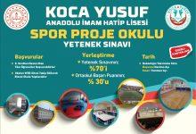 Koca Yusuf Anadolu İmam Hatip Spor Lisesi Yetenek Sınav Başvuruları Başlıyor