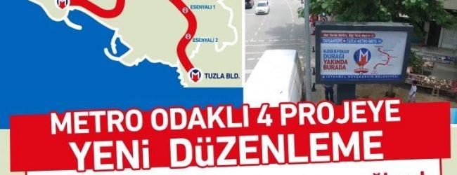 Kaynarca, Çamçeşme, Kavakpınar ve Esenyalı Metro İstasyonlarına Yeni Düzenleme