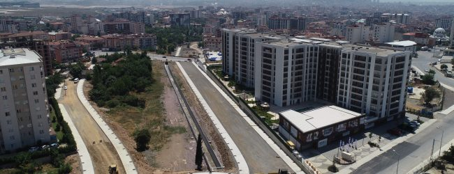Velibaba – Güllübağlar – Esenler Bağlantı Yolunun Yüzde 70'i Tamamlandı