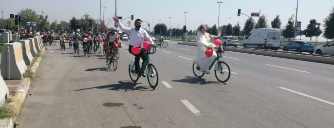 Bisikletle Geldiler Bir Ömür Birlikteliğe Evet Dediler