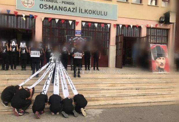 O Okulun İdarecilerine Soruşturma Açıldı – Çocuklar Atatürk'ün Fotoğrafı Önünde Diz Çöktürülmüştü